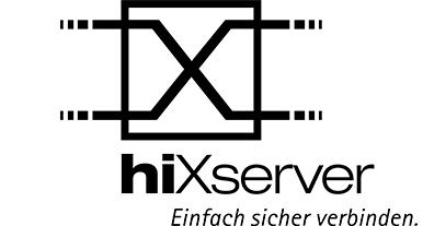 hiX Logo mit Claim